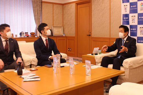 野田市長との対談