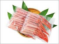 【お刺身用】北海道産 紅ずわいがに脚肉むき身 約1kg