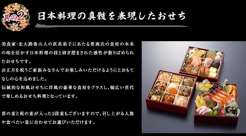 其の2.日本料理の真髄を表現したおせち